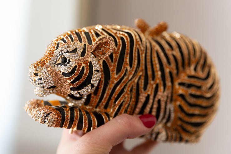 TARA: Tiger Crystal Clutch