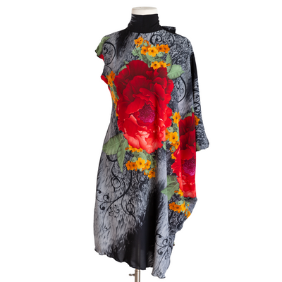 "by VINNIK ""Carmencita"" Cavatina Dress Black with Red Rose"