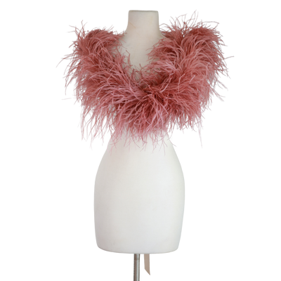 "byVINNIK: ""Rose"" Marabou Wrap with Satin Ribbons"