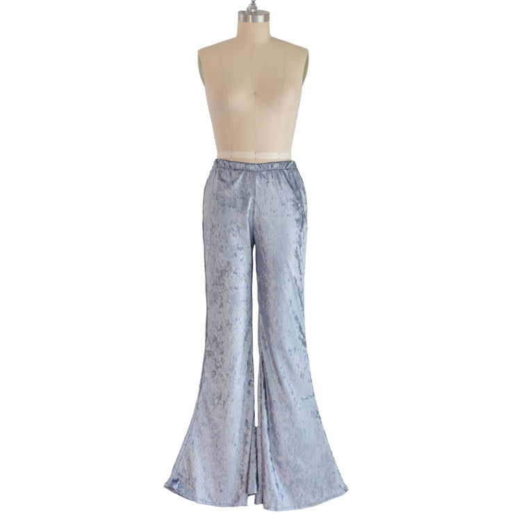 """Gray"" Velvet Flared Bell Bottoms"