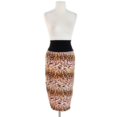 "byVINNIK Pencil Skirt in ""Janie"" Colorful Leopard Print Skirt"