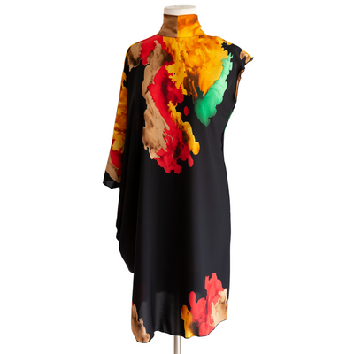 "byVINNIK ""Nancy"" Cavatina Dress Black with Colorful Explosion"