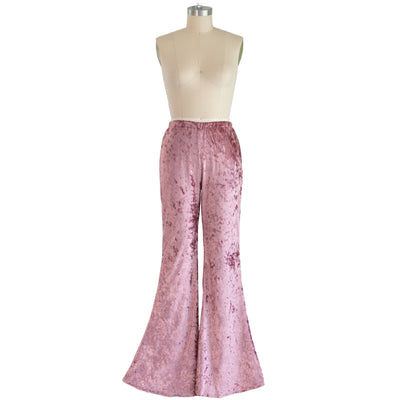 """Rose"" Velvet Flared Bell Bottoms"