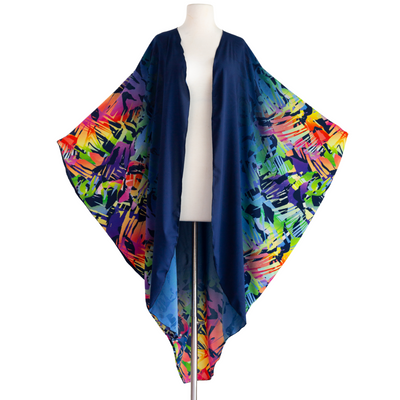 "by VINNIK Coloratura Cape in ""Eve"" Blue with Abstract Rainbow"