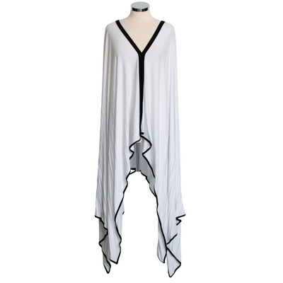 "by VINNIK Teatro Robe in ""J'Nai"" Black with Colorful Purple Floral Explosion"