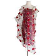 "byVINNIK ""Red Mimi 3D Flower Organza"" Cabaletta Dress"