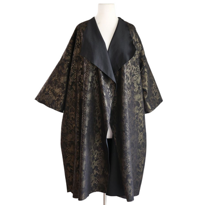 "by VINNIK: ""Cleopatra""  Heroine Opera Coat Gold Snakeskin Stretch Denim"