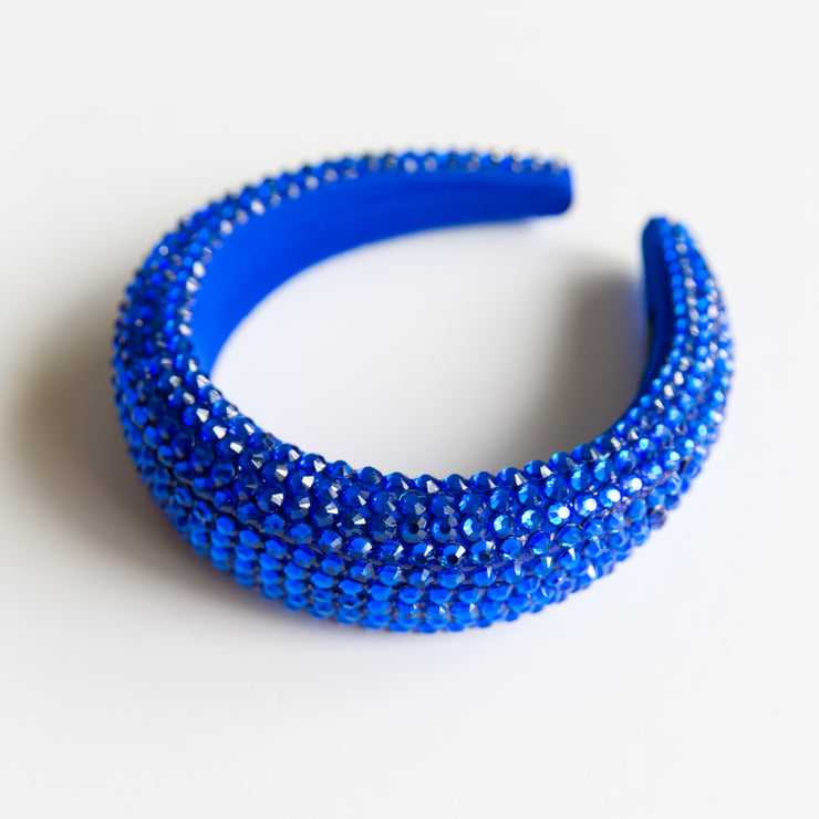 Cookie Monster Blue Rhinestone Padded Headband