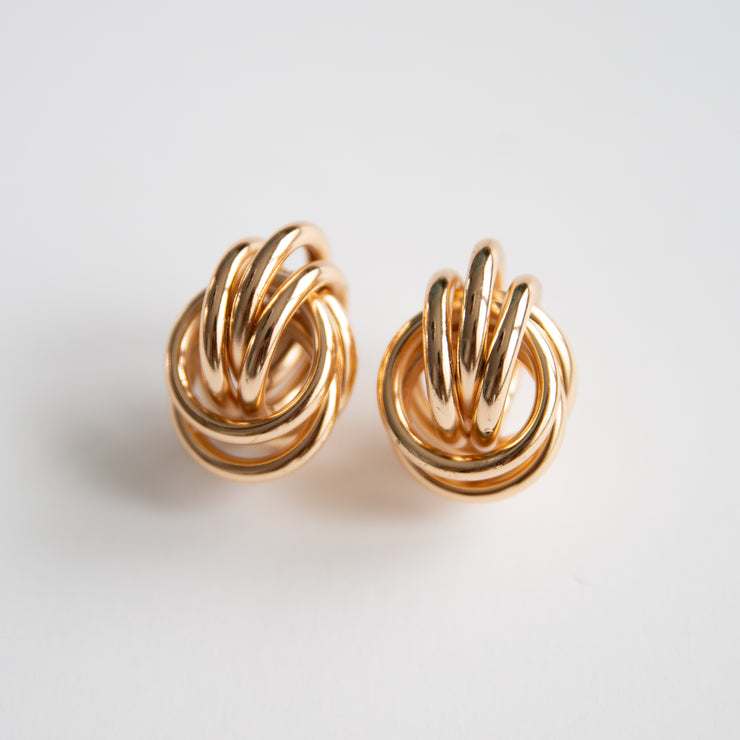 Oversized Gold Omega Knot Earrings