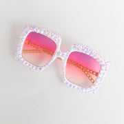 """Be Extra"" Rhinestone Sunglasses"