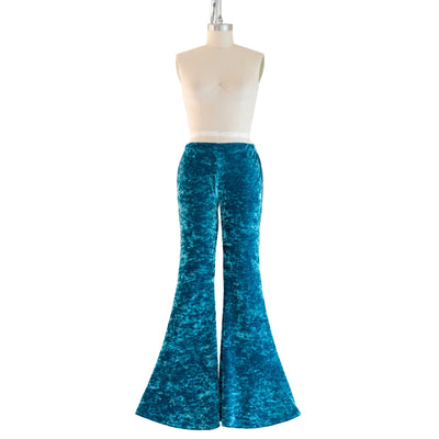 """Mermaid's Treasure"" Velvet Flared Bell Bottoms"