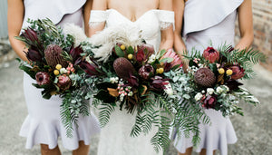 Caitie & Ephraim's Brisbane wedding with native flowers