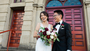 Huong & Will's elegant Burgundy toned wedding