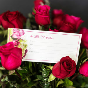 Gift Certificate for Valentines flowers Brisbane