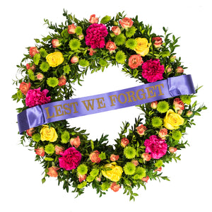 LARGE BRIGHT WREATH 42.5cm