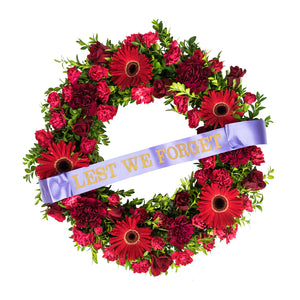 LARGE RED WREATH 42.5cm