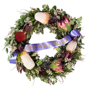 Large Australian Native wreath ANZAC Day, Remembrance Day delivered Brisbane