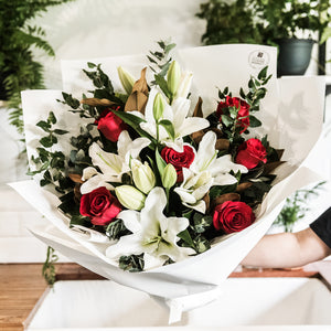 Rose & Lily Bouquet delivered in brisbane