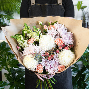 Pastel flower bouquet delivered in Brisbane
