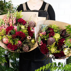 Seasonal Bright and Native bouquet of flowers delivered in Brisbane