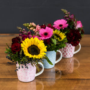 Teachers Floral Posy Mug delivered Brisbane
