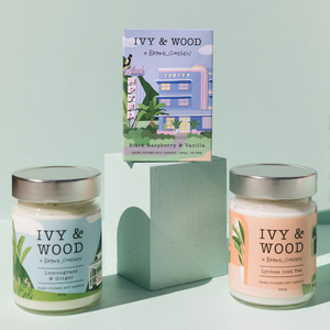 IVY & WOOD -  MASON JAR SOY CANDLE