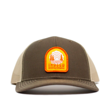 Load image into Gallery viewer, Sunrise Brown/Sand Outdoor Patch Trucker Hat