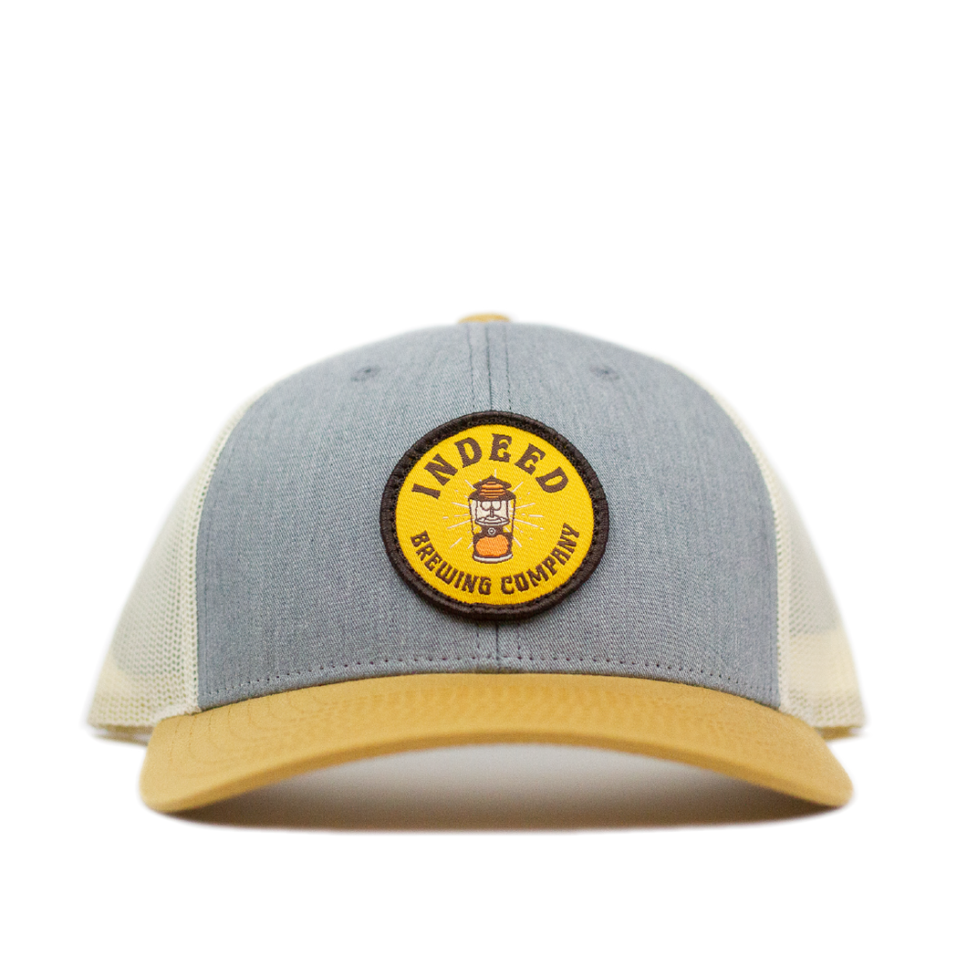 Campers Delight Cream/Gold Outdoor Patch Trucker Hat