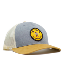 Load image into Gallery viewer, Campers Delight Cream/Gold Outdoor Patch Trucker Hat