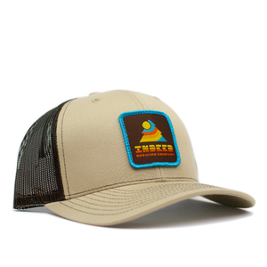Sunset Dark Brown/Khaki Outdoor Patch Trucker Hat