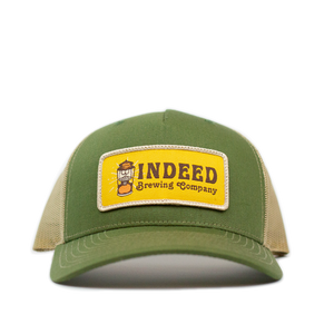 5-Panel Outdoor Patch Trucker Hat - Sand/Olive