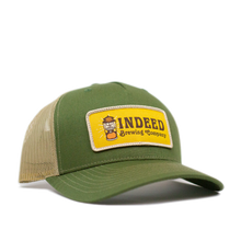 Load image into Gallery viewer, 5-Panel Outdoor Patch Trucker Hat - Sand/Olive