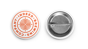 "Indeed 1.5"" Logo Button"
