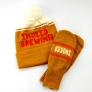 Custom Knit Indeed Brewing Mittens