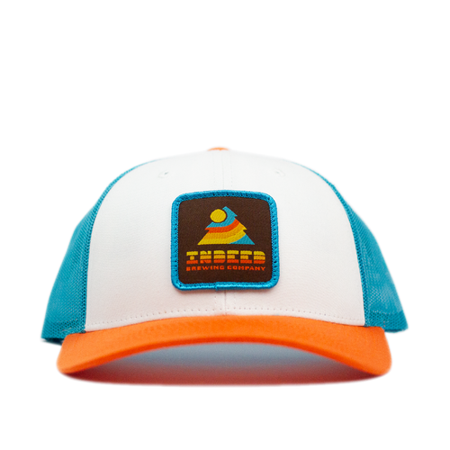Sunset Blue Hawaii/Orange Outdoor Patch Trucker Hat