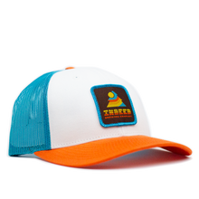 Load image into Gallery viewer, Sunset Blue Hawaii/Orange Outdoor Patch Trucker Hat
