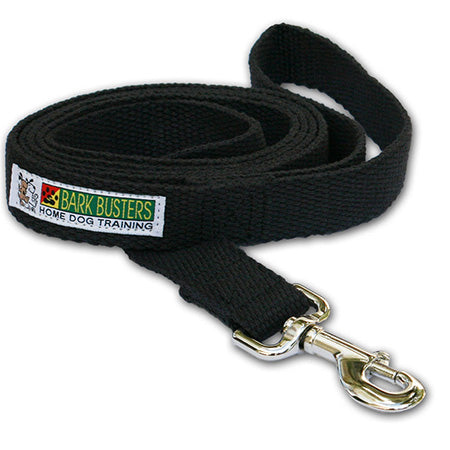 cotton-dog-training-lead-6ft-long-black-global-dog-company