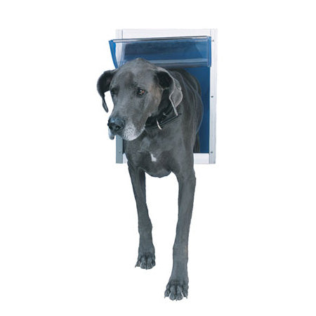 deluxe-white aluminium-pet-door2-global-dog-company