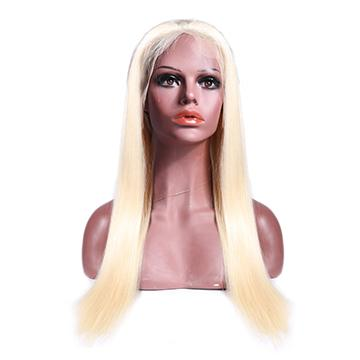 Blonde Velvety Straight Lace Front Wig