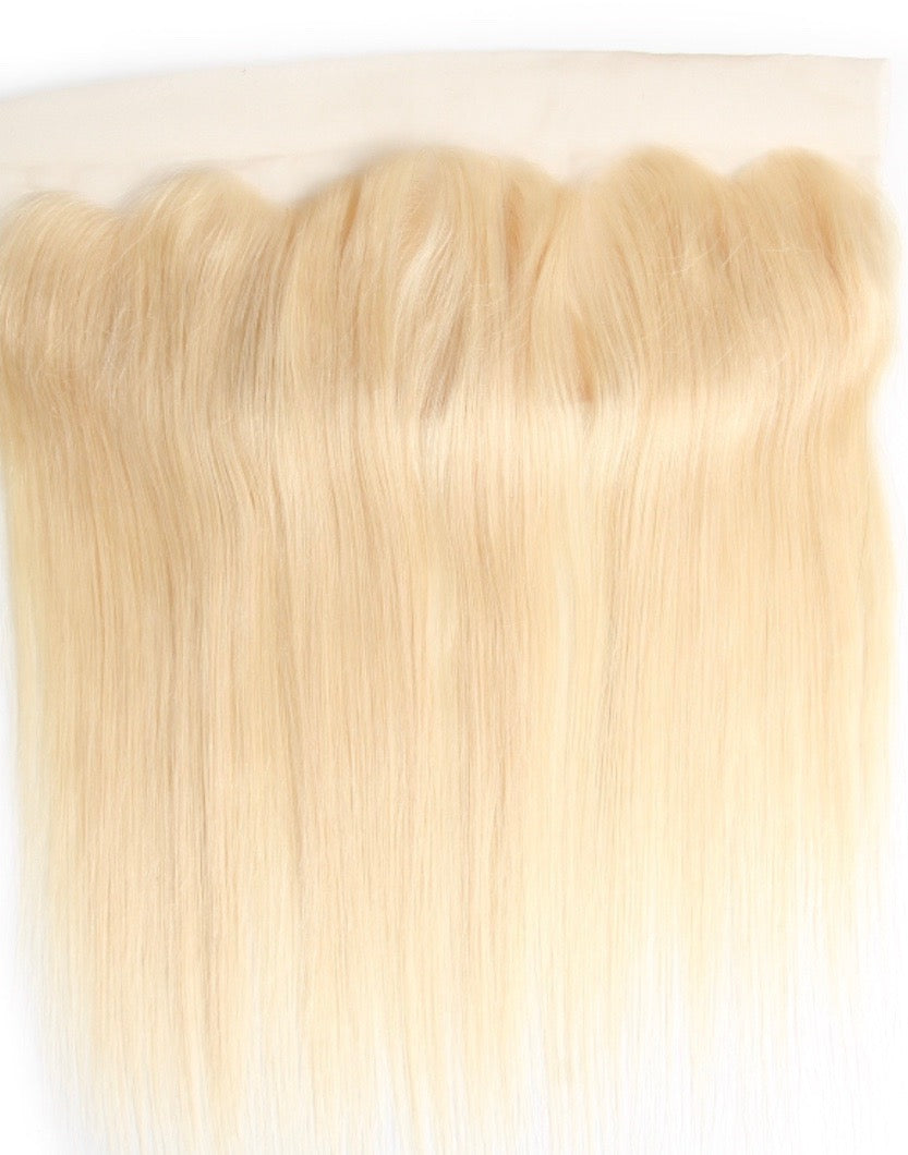Blonde Velvety Straight Frontal