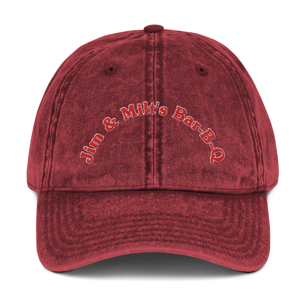 Jim & Milt's Bar-B-Q  Embroidered Vintage Cap