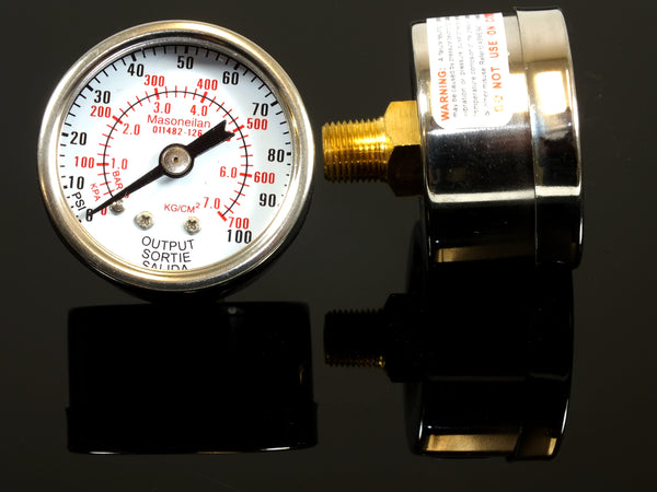 Output Gauge, 0-100psi