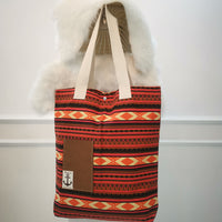Orange Stripes Handmade Tote Bag