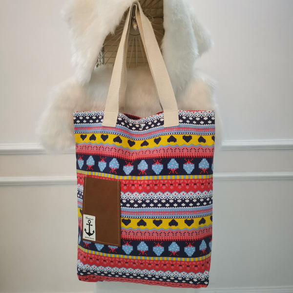 Colourful Pixel Handmade Tote Bag