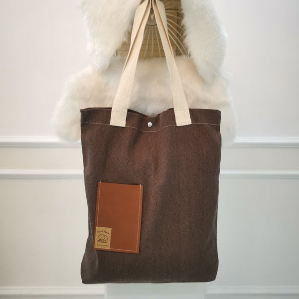 Brown Handmade Tote Bag