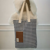 Black & White Handmade Tote Bag 3