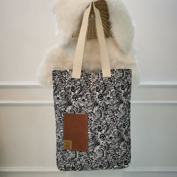 Black & White Handmade Tote Bag 4