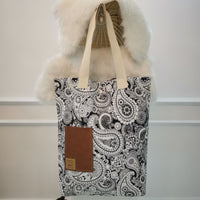 Black & White Handmade Tote Bag 2
