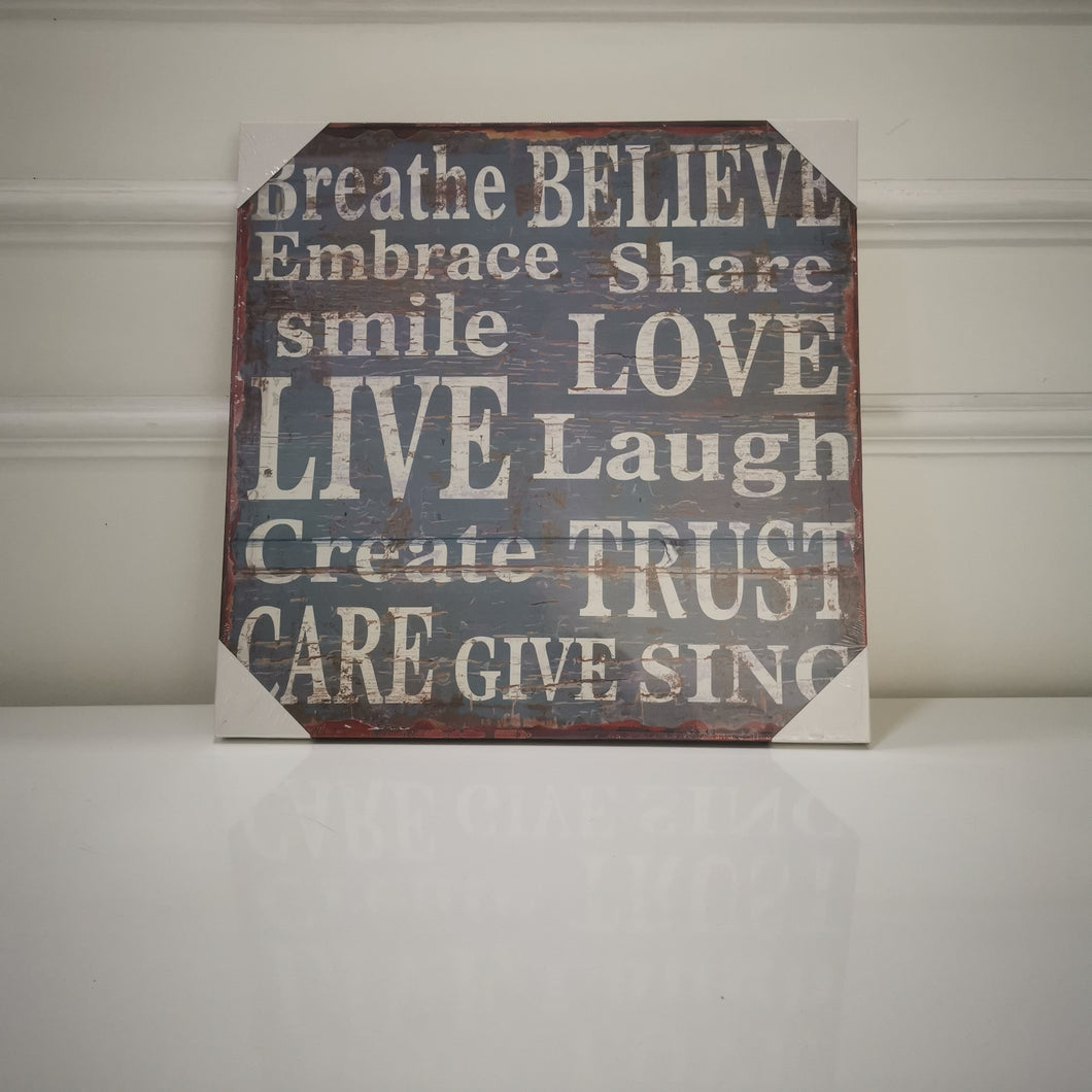 Positive Words Canvas (front)