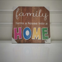 """Family Home"" Canvas Print"